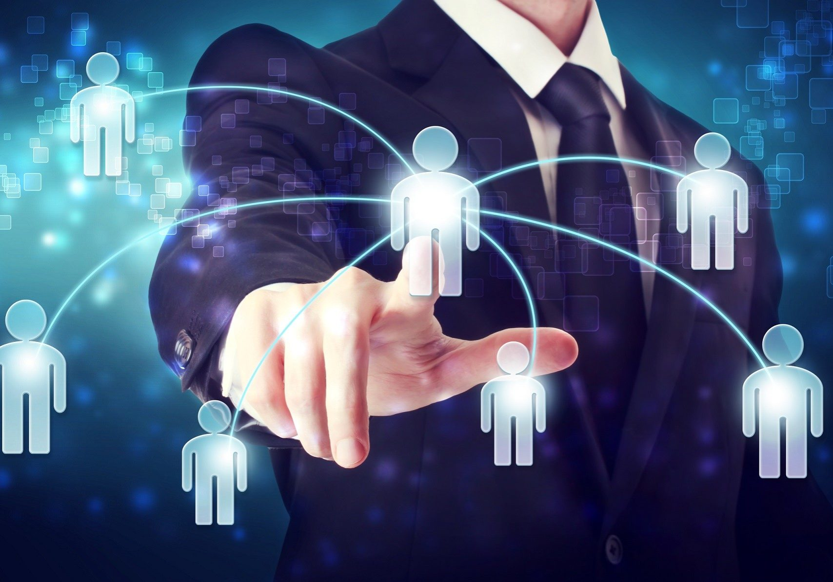 Businessman with Social Network Concepts